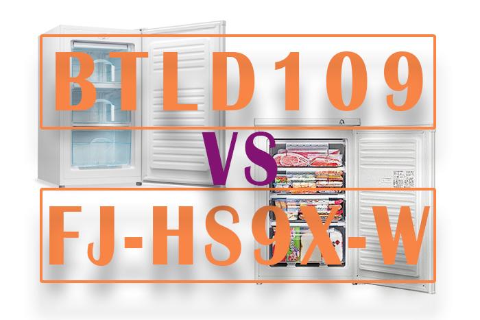 Bestek BTLD109とシャープ FJ-HS9X-Wを比較してみました。【冷凍庫対決】